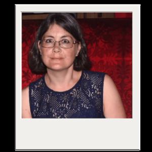 Das Bild zeigt ein Polaroid-Foto von Gründerin Nicole Kreienbühl