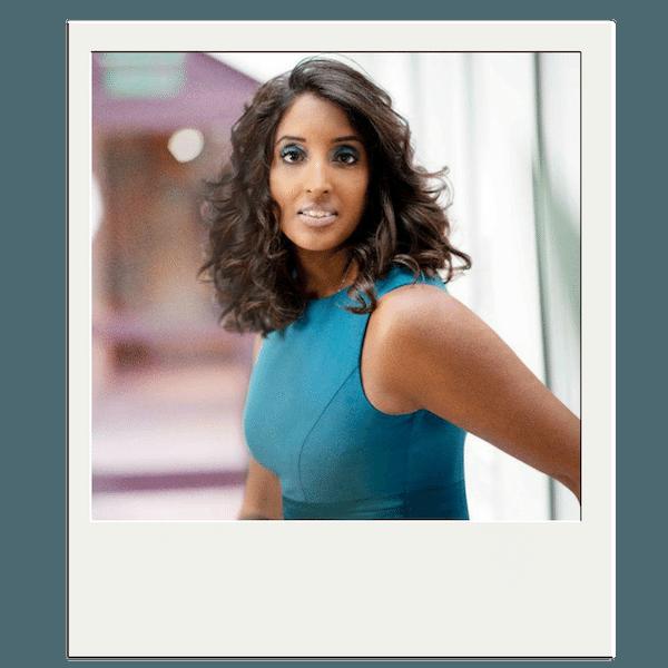 Das Bild zeigt ein Polaroid-Foto von Gründerin Sabina Kocherhans