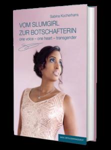 """3D-Illustration des Buchcovers """"Vom Slumgirl zu Botschafterin"""""""