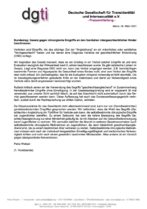 Hier die offizielle Pressemitteilung der dgti e.V. vom 26.03.2021